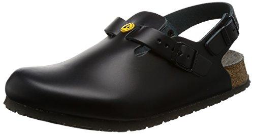 Birkenstock 61400-43-normales Schuh TOKIO Antistatik/Naturleder SCHWARZ Gr. 43-normales Fußbett, Größe