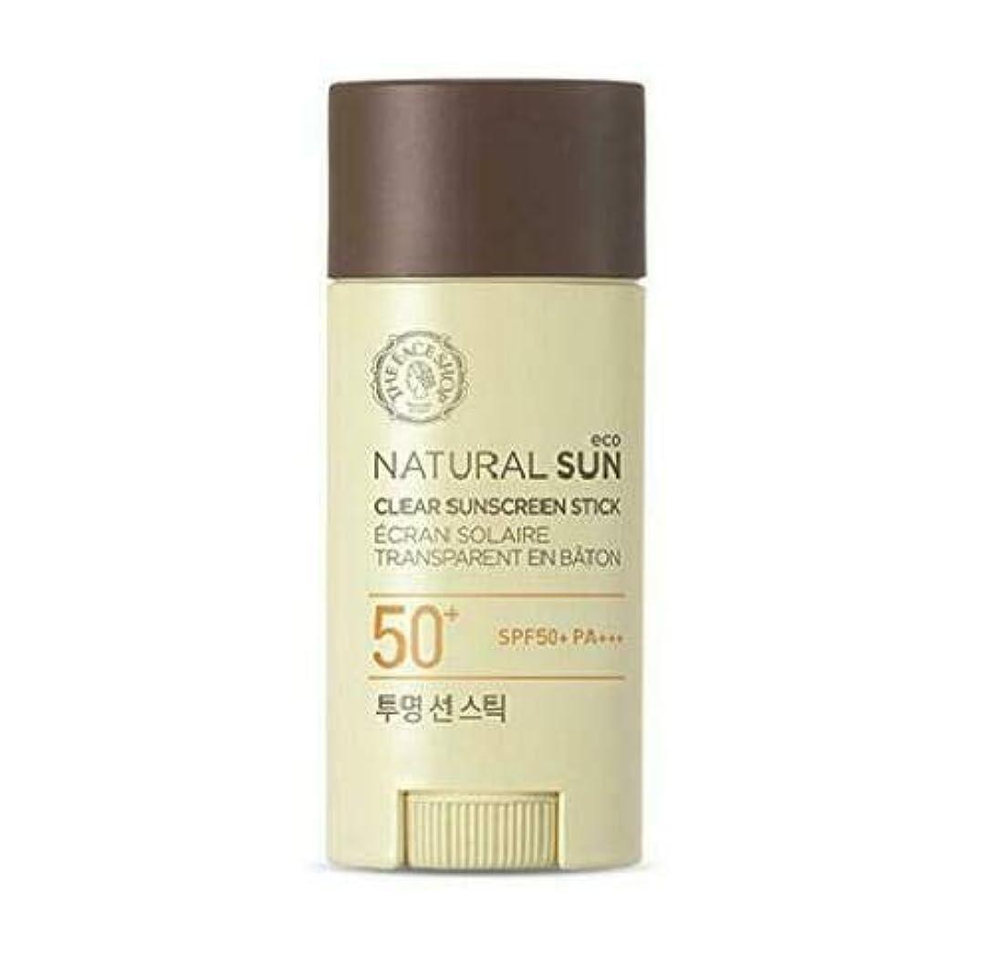 ザフェイスショップ(The Face Shop) Natural Eco Sun Clear Sunscreen Stick サンスティック (13.5g) SPF50+ PA+++