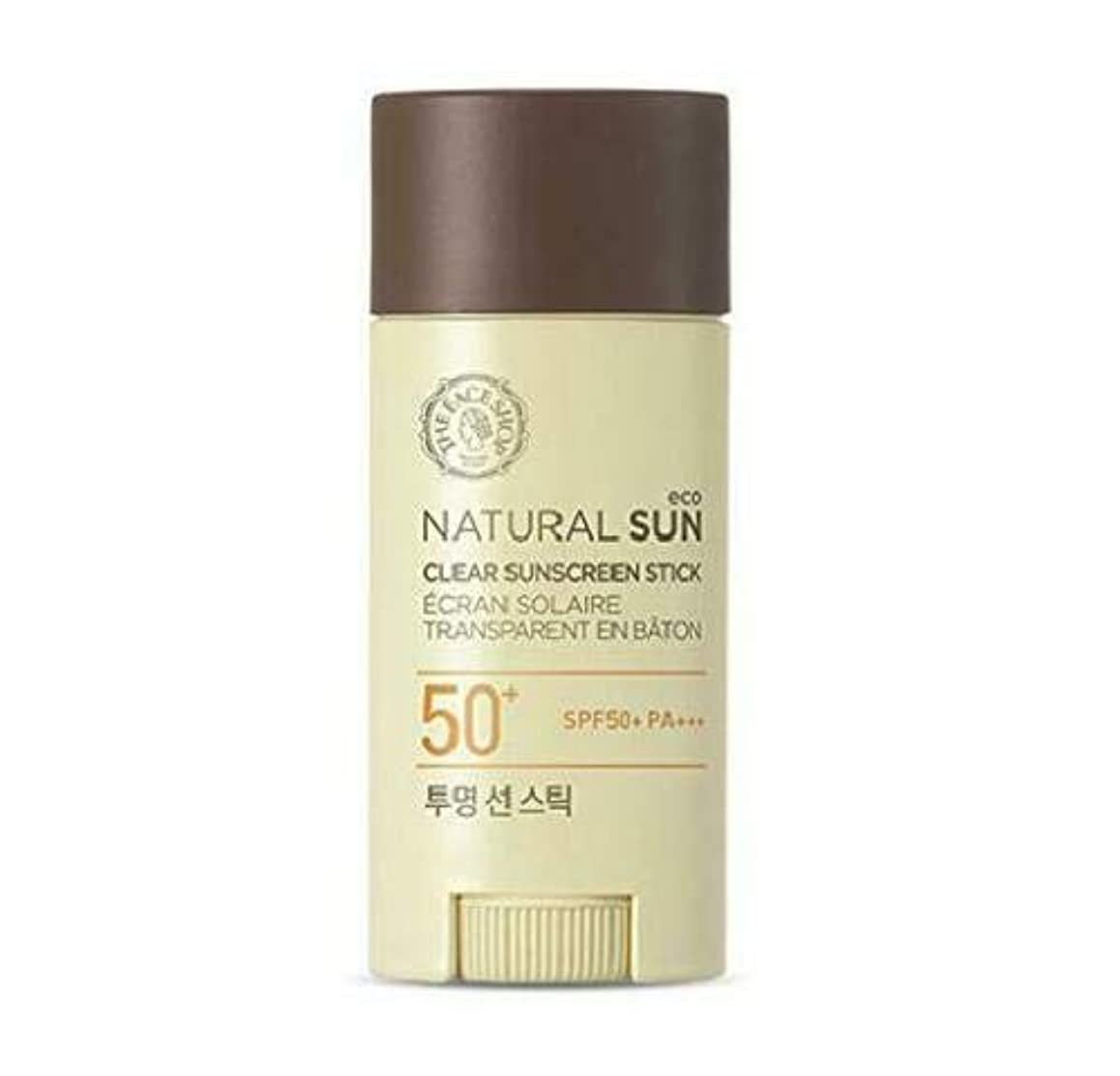 ザフェイスショップ(The Face Shop) Natural Eco Sun Clear Sunscreen Stick サンスティック (13.5g) SPF50+ PA+++