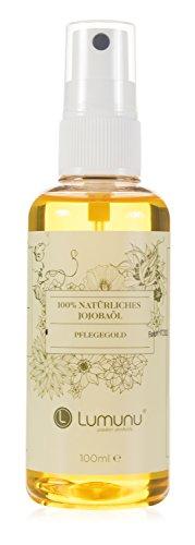 Deluxe reines Jojobaöl (100ml) Lumunu Pflegegold, 100% natürliches Jojobaöl, von Venize