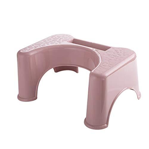 Footstool productos para el hogar Taburete de inodoro de plástico Otomano Taburete para niños Taburete para el hogar Taburete de baño grueso en cuclillas taburete de plástico para baño (color: rosa)