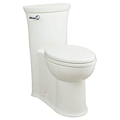 American Standard 2786128.020 Tropic 1.28 GPF One-Piece Elongated Toilet with Seat and 12-In Rough-In, Left Hand Trip Lever, White