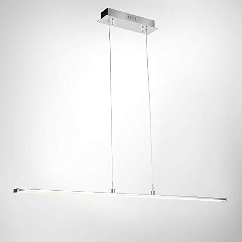 SPARKOR LED 30W Pendelleuchte Lampe Esstischleuchte, Modernes Design, Höhenverstellbar, Metall, Chrom, 101 x 120 cm Warmweiß