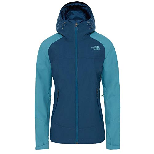 The North Face Stratos Chaqueta, Mujer, Blue Wing Teal/Storm Blue, XS