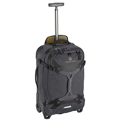 Eagle Creek Gear Warrior Carry Luggage Softside 2-Wheel Rolling Suitcase, Jet Black, 22 Inch