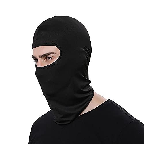 Damaifirstes Headgear - Máscara de ciclismo para hombre, protector solar, capucha delgada para motocicleta, cortavientos y frío, forro de casco a prueba de polvo, 2 unidades, color negro a_23 x 40 cm