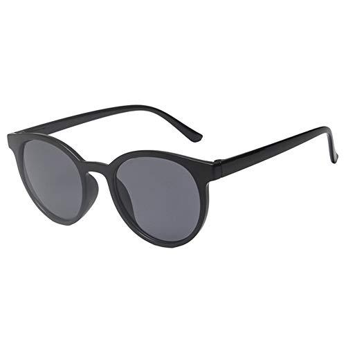 WHSC Vintage Small Frame Round Gafas de sol Mujeres Hombres Gafas de bloqueo UV (negro)