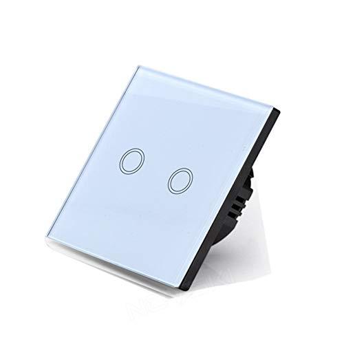 Pannello interruttori Pannello a sfioramento della luce, interruttore di alimentazione domestica 220V, sensore tattile capacitivo, retroilluminazione a LED, consegna veloce Per l'ufficio a casa