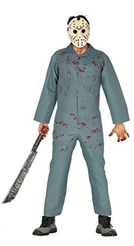 FIESTAS GUIRCA S.L. Serienmörder-Kostüm Hockey-Killer grau M (48-50)