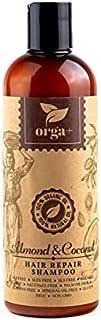 ORGA+ - SHAMPOO ALMOND & COCONUT 500ML -100% Organic and Natural Shampoo repair hair and feeling soft and looking shiny