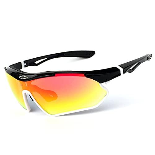 YAeele Gafas de Ciclismo para Mujeres y Hombres, Gafas de Bicicleta de montaña, Montura Tr90, protección 100% Uv400, Gafas Deportivas de montaña para Conducir