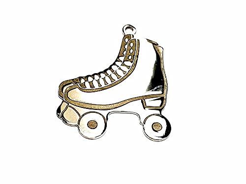 Anhänger 925 Silber Rollschuhe 2,5 x 2 cm ca. Liebhaber, Farbe Gold oder Silber inklusive.