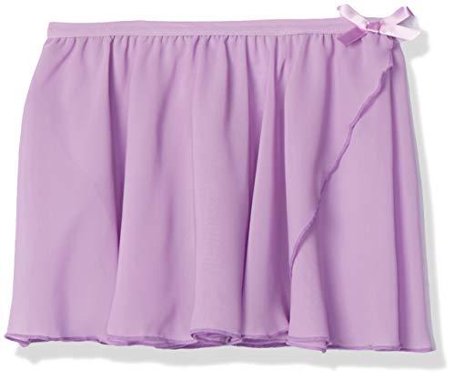 Amazon Essentials Girl's Dance Faux-Wrap Skirt, Powder Lavender, 2T