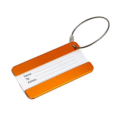 TTCI-RR Etichette Bagagli, 1 PC Leghe di Alluminio Portatile da Viaggio Tag Etichetta per Etichette per Cinghie ID. Accessori per imbarco Bagagli portabagagli (Color : Gold)