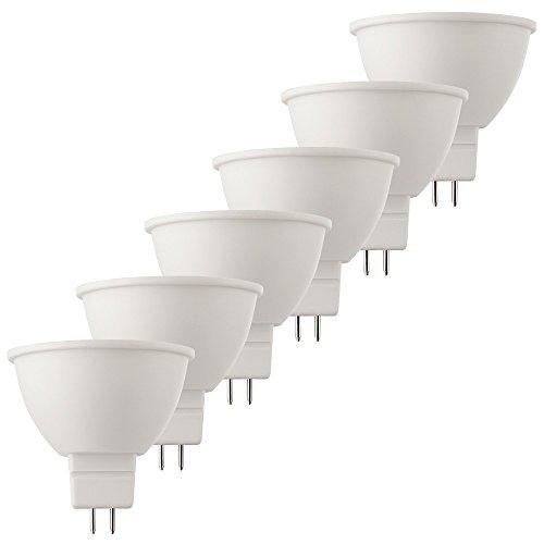 Müller-Licht 400254 _ Set A Set de 6 hd95 de réflecteur LED équivalent 37 W, Plastique, 6.5 W, GU5.3, blanc, 5 x 5 x 5 cm