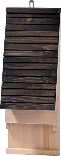 Fledermauskasten mit Belüftungsschlitzen, Nisthilfe zum Aufhängen, 19,5 x 14 x 53,5 cm