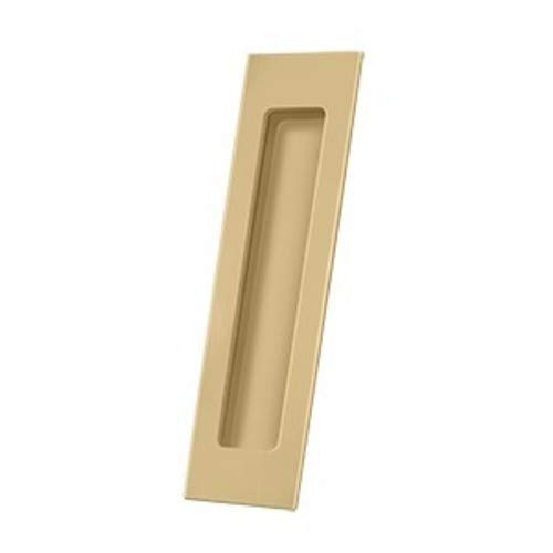 Deltana FP7178U4 Flush Pulls, Solid Brass Flush Pull, Rectangular, HD, 7' x 1-7/8' x 3/8', Solid Brass Polished Brass … (Satin Brass)