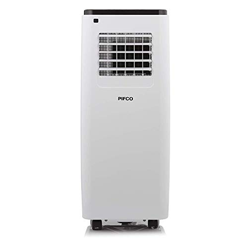 Pifco P40013 Portable 3-In-1 Air Conditioner, Fan, Cooler and Dehumidifier, 9000 BTU with 24-Hour Programmable Timer, 2 Speed Settings, R290, Auto Shut Off, Remote Control Included, White