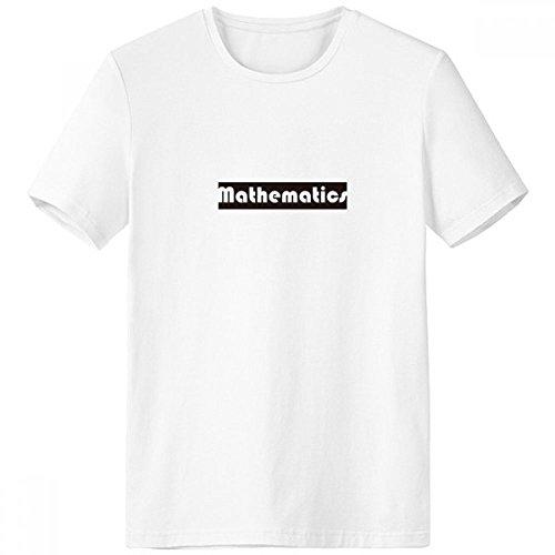 DIYthinker Curso de Matemáticas y el Mayor Negro Escote de la Camiseta Blanca de Primavera y Verano de Tagless Comfort Deportes Camisetas de Regalos - Multi - XXXL