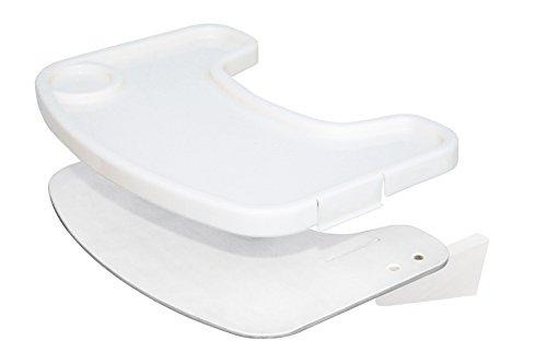 roba Essbrett aus Holz mit weißer Lackierung, mit durch Clips abnehmbares weißes Kunststofftray, für den roba Treppenhochstuhl 'Move'