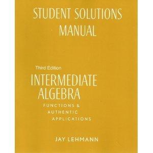 Intermediate Alegebra