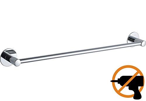 Wangel Handtuchstange Handtuchhalter ohne Bohren 60cm, Patentierter Kleber + Selbstklebender Kleber, Edelstahl, Poliertes Finish