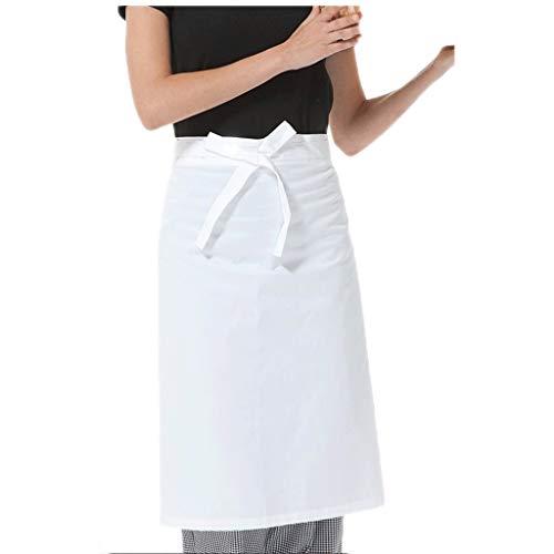 ZAZA Lustige schürzen für männer und Frauen Unisex Taille Schürze, Polyester-Baumwolle Schürze, for Koch, Kochen Küche, Grill und Studio, mit Taschen (Color : White B)