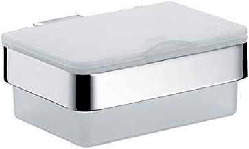 Emco Loft vochtige doekjesbox (kunststof wit/chroom, breedte 155,5 mm, dispenser voor toiletten) 53900101, normaal