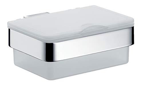 Emco Loft Feuchttücherbox (Kunststoff weiß/Chrom, Breite 155,5 mm, Feuchtpapierspender für Toiletten) 53900101, Normal
