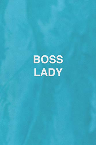 Boss Lady Journal Inspirational Womens Notebook: Blue, water, pool, Medium College-Ruled Notebook, 120 Paged, Lined, 6 x 9 (15.2 x 22.9 cm)