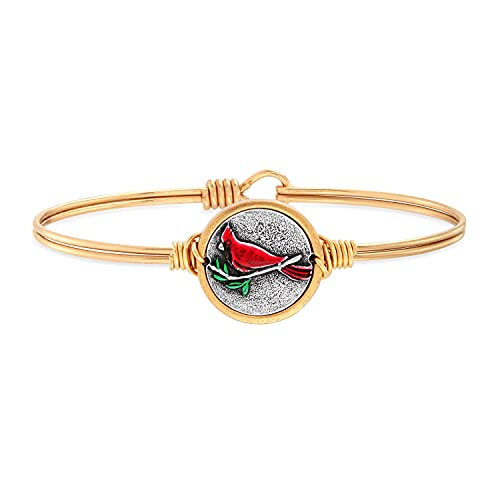 Red Cardinal Bangle Bracelet