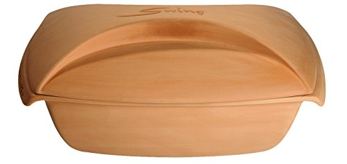 Romertopf Cooking Clay Pot, 4-Quart, Tan
