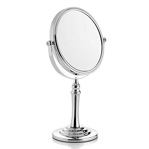 toutoffrir Miroir sur Pied métal Chrome - Grossissant X10 - dia 18CM