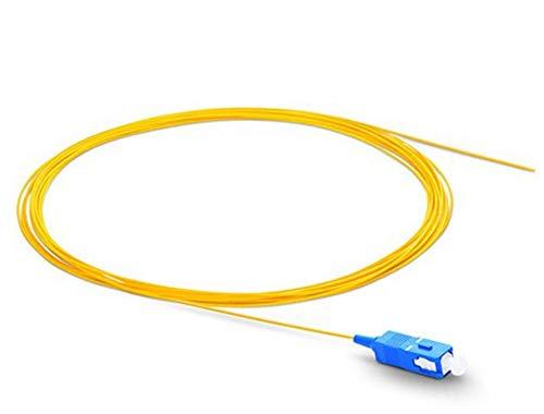 L-Yune, 1pc 1m 50pcs SC UPC Fiber Optic Pigtails Simplex 0.9mm PVC-Mantel-Faser-Kabel
