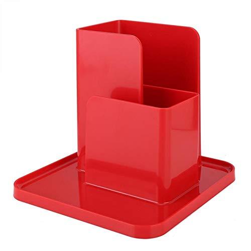 Mothinessto Organizador de Almacenamiento de Escritorio Moderno ABS para Sala de Estudio Ofifice(Rojo)