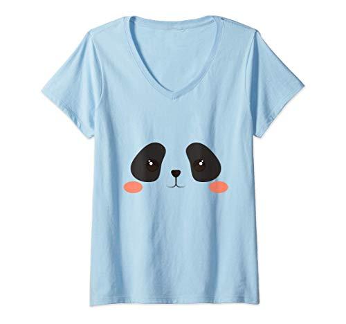 Donna Simpatico regalo per bambini per ragazze in costume da orso Maglietta con Collo a V