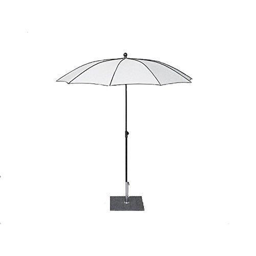 MAFFEI Border, runder Sonnenschirm, ø 200cm, Dralon, Designschirm, weiß