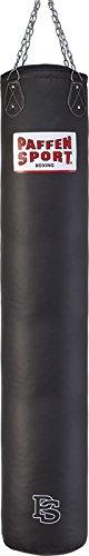 Paffen Sport Allround Kunstleder-Box- und Kick-Boxsack; schwarz; gefüllt; 100cm; 30kg
