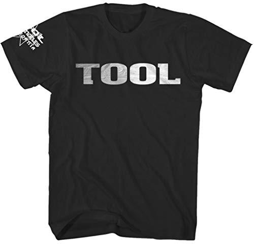 Tool 'Metallic Silver Logo' (Black) T-Shirt (Large)