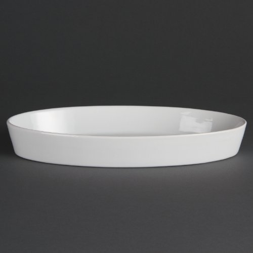 Olympia W409 Whiteware Plat à sole ovale, blanc (Lot de 6)