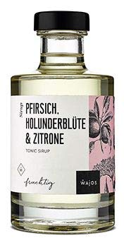 Tonic Sirup Pfirsich Holunderblüte & Zitrone I Wajos 200ml (Pfirsich Holunderblüte & Zitrone)