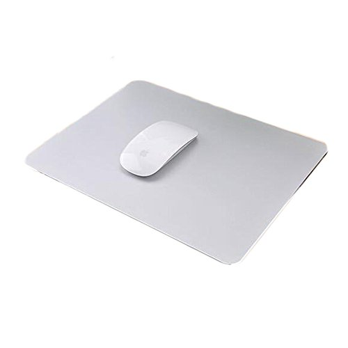Delmkin Unisex-Youth, Silber-250200mm, Mauspad Aluminium Pad Laptops Mouse Pad-250200mm (Silber-2)