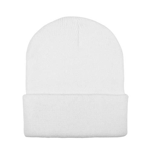 anyuq66qq Hut Solide Erwachsene Männer Frauen Slouchy Hut Weiß 8 Farben Baggy Warme Häkeln Winter Wolle Stricken Ski Beanie Schädel Slouchy Caps Hut<Br>Pys, H, M