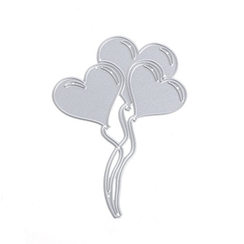 Luluspace Stanzschablonen Metall Stanzformen Ballon Silber Schneiden Schablonen Für DIY Cutting Dies Scrapbooking Album, Schneiden Schablonen Papier Karten Sammelalbum Deko