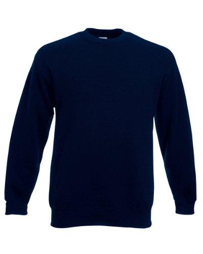 Fruit of the Loom Sweatshirt mit angesetzten Ärmeln Gr. L, Dunkles Marineblau