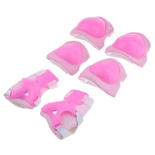 Injoyo 1 Set Skateboard Schutzausrüstung Weicher Handgelenkschutz Schutzpolster Knieschoner Set für Kinder im Alter von 3-8 Jahren - Rosa