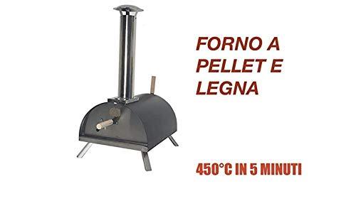 Il più Venduto,L'Originale: Forno per Pizza A Pellet, Legna. 450°C in 5 Minuti! 2 OMAGGI!