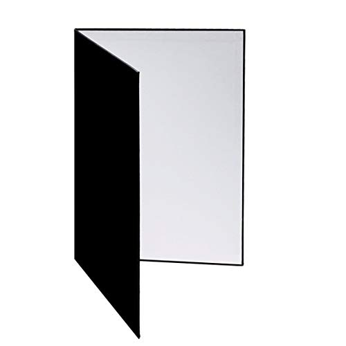 Meking 12x8 Inch 3in1 Cardboard Light Reflector for Photography, Studio Tabletop Food and Product Photo Shoot - Black, Silver and White