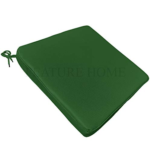 Chair Seat Pad Tie On Waterproof + Foam Insert - 3 Colours Available - Outdor/Indoor - All Weather Resistant (Green)
