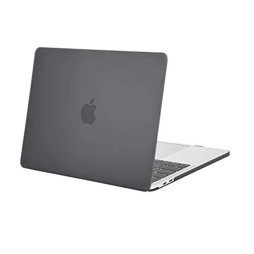 MOSISO Custodia Compatibile con MacBook PRO 13 Pollici con/Senza Touch Bar 2020 2019 2018 2017 2016 Case A2338 M1/A2289/A2251/A2159/A1989/A1706/A1708,Plastic Rigida Copertina, Grigio